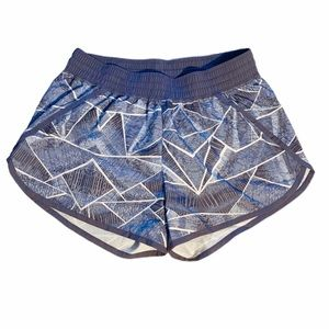 Champion Patterned Blue Running Shorts